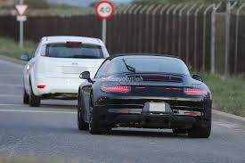 porsche headlights porsche 911 targa facelift shows new headlights in latest spyshots