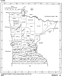 Iowa Counties Map Minnesota State Map With Counties Outline And Location Of Each