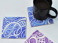 how to make a zendoodle how to make a zen doodle coaster color and then bake for 30 min