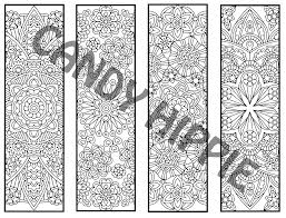 advanced flower mandala bookmarks page 2 candyhippie coloring pages