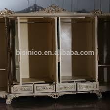 Door Armoire Bisini 6 Door Wooden European Style Wardrobe Closet With Mirror