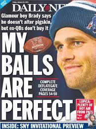 deflategate on the back page photos deflategate on the back