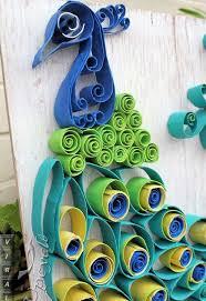 Upcycled Art - paper towel roll art into bohemian rustic peacock hometalk