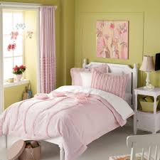 White Black And Pink Bedroom Bedroom Pink And White Ruffle Comforter With Pretty Nightstand