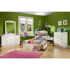 White Bookcase Headboard Twin South Shore Kids Beds U0026 Headboards Kids Bedroom Furniture