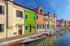 Burano Italy Burano Italy Colourful Houses Near Venice Stock Photo Getty Images