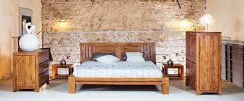 chambre acacia lit bois exotique guntur dimensions au choix 4261