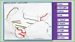 Maps Of India by Rivers In Maps Of India Youtube