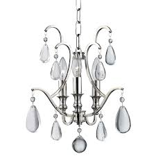 Mini White Chandelier Hudson Valley 9303 Pn Crawford Polished Nickel Mini Chandelier
