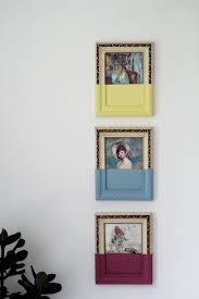 Picture Frame On Wall by Paint Dipped Picture Frames