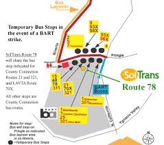 Bart Stations Map by Soltrans Route 78 Temporary Bus Stops In The Event Of Another