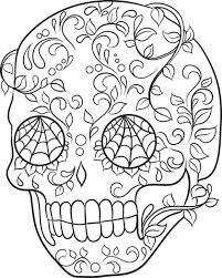 printable coloring pages sugar skulls printable sugar skull printable coloring sheets free page by pages