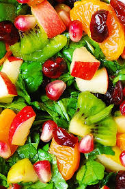 spinach salad with fruit and maple lime dressing