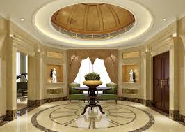 winsome entrance design with angelic floor and ceiling decoration