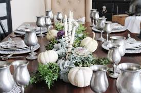 a thanksgiving dinner tablescape may me and