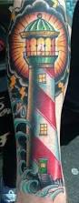 sailorstattoos lighthouse tattoo done by raul tanguma sailor u0027s