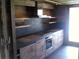 cuisine vieux bois redwood parcevaux constructeur chalets passy haute savoie 74