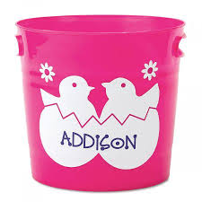 easter buckets personalized easter buckets lillian vernon