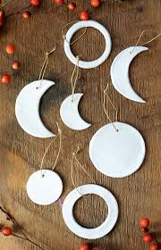 diy moon phase clay ornaments clay ornaments moon phases and clay
