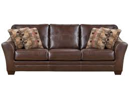 Leather Brown Sofas Slumberland Brockport Collection Brown Sofa