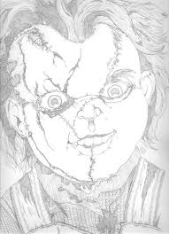 chucky coloring page creepy doll coloring pages coloring