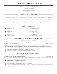 Curriculum Vitae Medical Doctor Template 100 The Physician Resume Physician Assistant Resume Sample