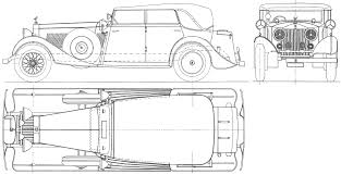Free Blueprints Rolls Royce Torpedo Cabriolet 1934 Blueprint Download Free
