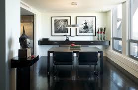 Floating Shelves Dining Room Dining Room Contemporary With Black - Floating shelves in dining room