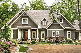 Country Craftsman House Plans 06202 Lodgemont Cottage Front Elevation Craftsman Style House