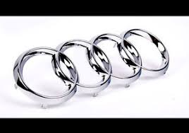 audi rings audi rings chrome grill front a3 s3 a4 s4 rs4 a5 s5 a6 s6 tt