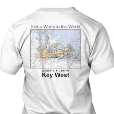 Map Performance Key West Nautical Map Performance Fast Drying T Shirt By Islandjay