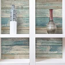 roommates rmk9052wp 28 18 square feet blue distressed wood peel