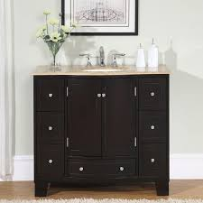 silkroad exclusive 40 inch single sink cabinet bathroom vanity