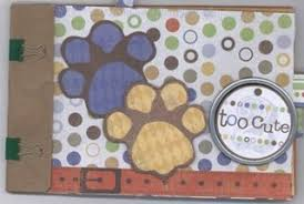 dog scrapbook album scrapbooking with premade paper bag album dog