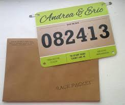 Affordable Save The Dates Race Bib Save The Dates Since Zach Does The Running It Would Be