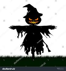 halloween cat silhouette background silhouette scary scarecrow graveyard isolated on stock vector