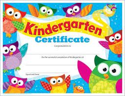 preschool certificates kindergarten certificate owl t 17009