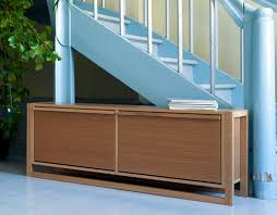 oak finish shoe storage bench with 2 roll down drawers house