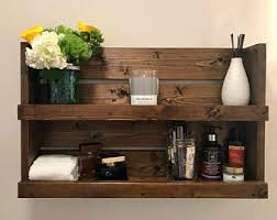 Bathroom Shelve Wood Bathroom Shelf Etsy
