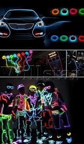 Neon Lights In Cars Interior 10 Sets Diy Decoration 110v Auto Car Interior Led El Wire