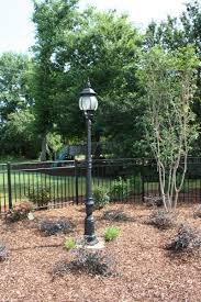 Backyard Light Pole by Water Features