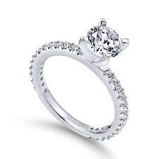 engagement ring setting 4 prong engagement ring with prong set diamond band freedman