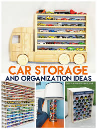 awesome ways to organize and store your cars a and a glue gun