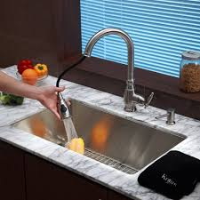 kitchen make your kitchen look modern using kraus faucets