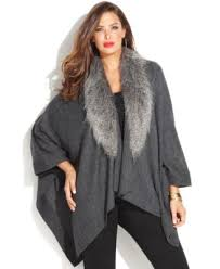 sweater with faux fur collar inc international concepts plus size faux fur collar poncho