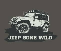 jeep shirt modern bold t shirt design for jeep gone wild by hugo b design