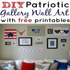 simple diy home decor diy patriotic gallery wall art home decor with free printables
