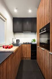Contrasting Kitchen Cabinets Compact Polish Apartment With Contrasting Black And White Accents