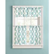 Better Homes And Gardens Kitchen Ideas Better Homes And Gardens Aqua Ikat Diamonds Kitchen Curtains Set