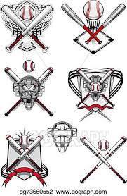 clip vector baseball symbols with heraldry elements and
